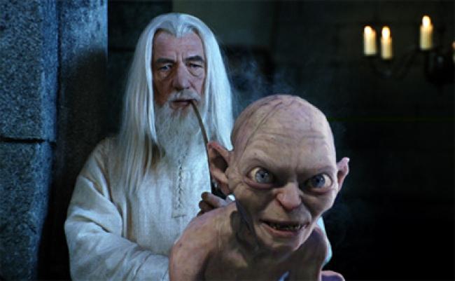 Ian McKellen y Andy Serkys