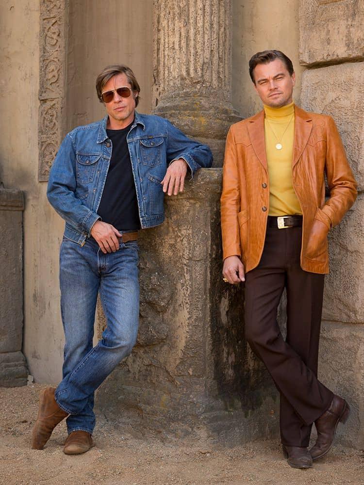 Brad Pitt y Leonardo DiCaprio en la primage imagen juntos