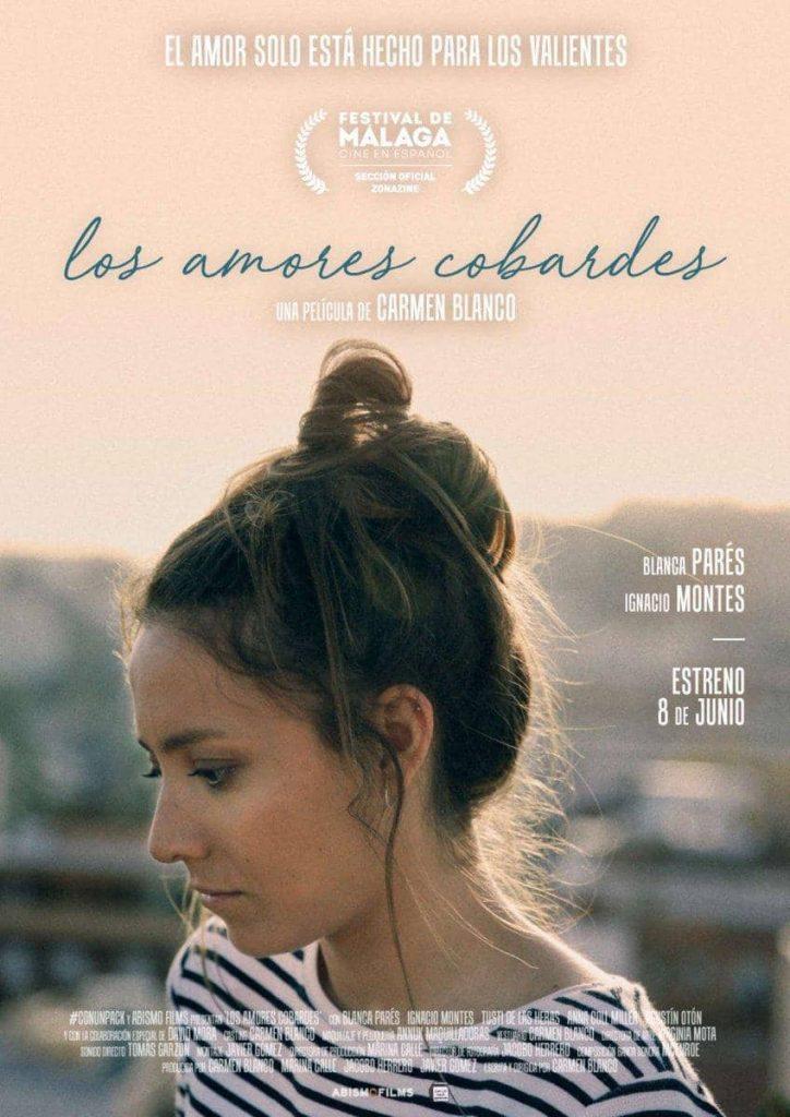 Cartel oficial de Los amores cobardes