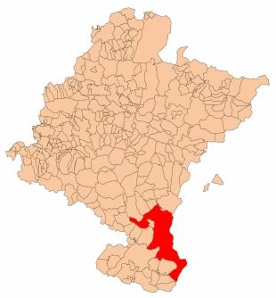 Imagen del mapa de Navarra