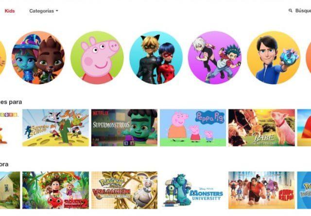 Interfact del catálogo infantil de Netflix