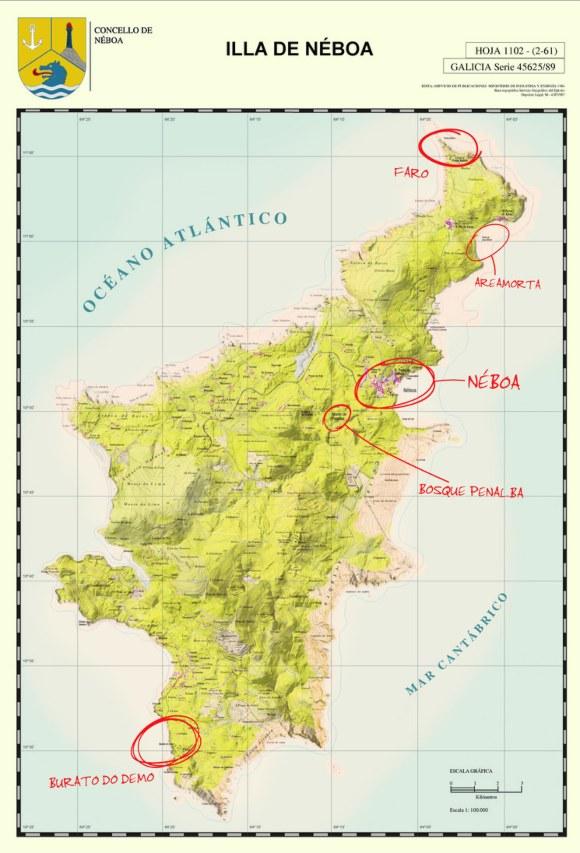 mapa Néboa Galicia